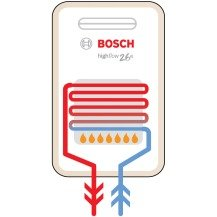 Diagram of a bosch gas instantaneous hot water system