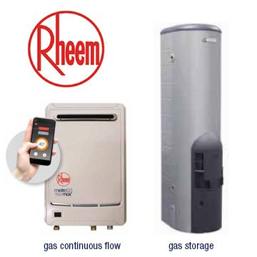 Gas continuous flow and gas storage hot water systems